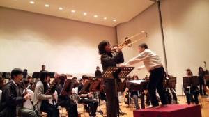 「トロンボーン協奏曲」のリハーサル